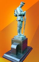 WW1 CENTENARY BRONZE SOLDIER 2 STATUE GREAT WAR REMEMBRANCE
